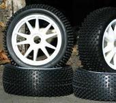 Нажмите на изображение для увеличения Название: NIB Racingspike WS Pre-Mounted 1.8 Buggy Tires Glued.JPG Просмотров: 20 Размер:28.6 Кб ID:220159