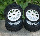 Нажмите на изображение для увеличения Название: NIB Mohawk WS Pre-Mounted 1.8 Buggy Tires Glued.JPG Просмотров: 29 Размер:29.8 Кб ID:220161