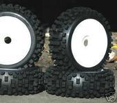 Нажмите на изображение для увеличения Название: NIB Big-Blocks WD Pre-Mounted 1.8 Buggy Tires Glued.JPG Просмотров: 16 Размер:21.8 Кб ID:220164