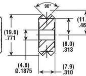 Нажмите на изображение для увеличения Название: CRT_V-Guide_Wheels_20mm_tech.jpg Просмотров: 32 Размер:23.7 Кб ID:582757