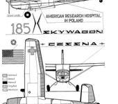 Нажмите на изображение для увеличения Название: Cessna-185. Схема окраски.jpg Просмотров: 222 Размер:78.9 Кб ID:603113