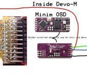 Нажмите на изображение для увеличения Название: Devo-m and minim OSD wire up.jpg Просмотров: 230 Размер:52.5 Кб ID:935918