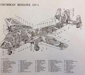 Нажмите на изображение для увеличения Название: GrummanMohawkOV-1Schematic.jpg Просмотров: 41 Размер:79.9 Кб ID:1309857