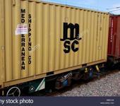Нажмите на изображение для увеличения Название: msc-shipping-container-on-a-train-uk-BB67JW.jpg Просмотров: 22 Размер:69.6 Кб ID:1469248
